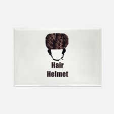 Hair Helmet Rectangle Magnet