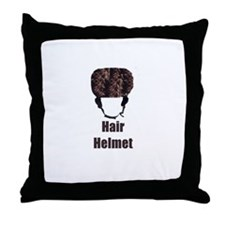 Hair Helmet Throw Pillow