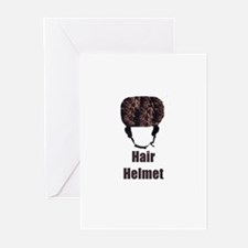Hair Helmet Greeting Cards (Pk of 10)