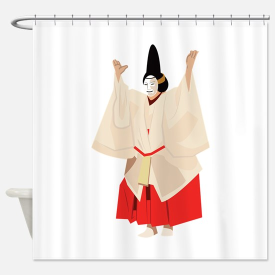 Noh Theater Actor Shower Curtain