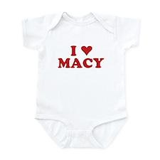 I LOVE MACY Infant Bodysuit