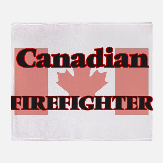 Canadian Firefighter Throw Blanket
