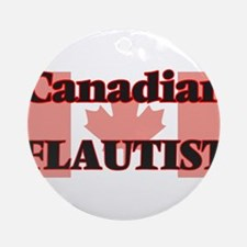 Canadian Flautist Round Ornament