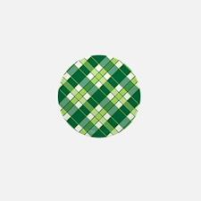 EMERALD PLAID Mini Button
