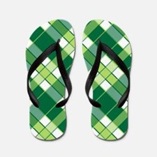 EMERALD PLAID Flip Flops