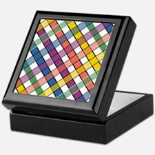 RAINBOW PLAID Keepsake Box