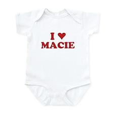 I LOVE MACIE Infant Bodysuit