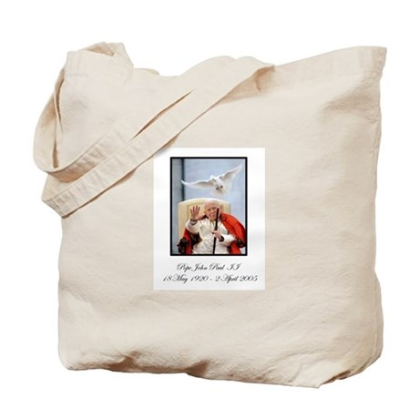 Pope John Paul II with Dove Tote Bag