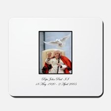 Pope John Paul II with Dove Mousepad