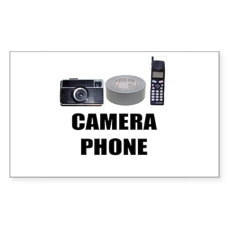 Camera Phone Rectangle Sticker