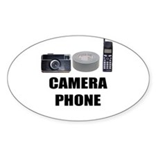 Camera Phone Oval Decal