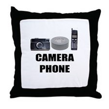 Camera Phone Throw Pillow