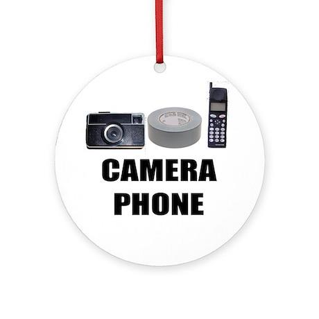 Camera Phone Ornament (Round)