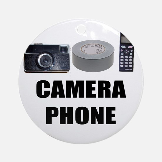 Camera Phone Ornament (Round)