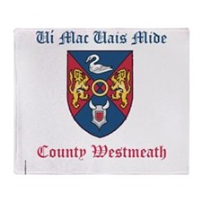 Ui Mac Uais Mide - County Westmeath Throw Blanket