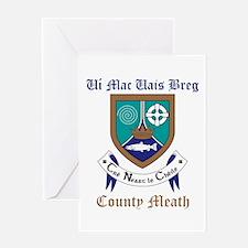 Ui Mac Uais Breg - County Meath Greeting Cards