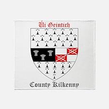 Ui Geintich - County Kilkenny Throw Blanket