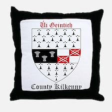 Ui Geintich - County Kilkenny Throw Pillow