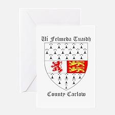 Ui Felmeda Tuaidh - County Carlow Greeting Cards