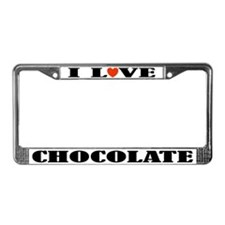 I Love Chocolate License Plate Frame