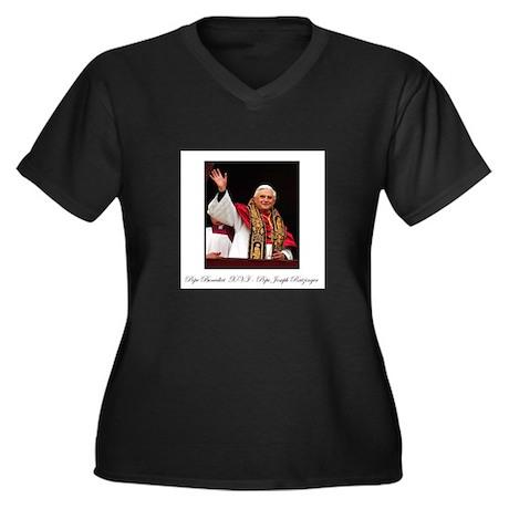 Pope Benedict XVI - Joseph Ra Women's Plus Size V-