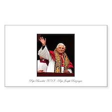 Pope Benedict XVI - Joseph Ra Sticker (Rectangular