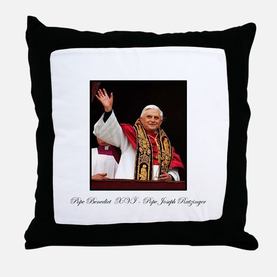 Pope Benedict XVI - Joseph Ra Throw Pillow