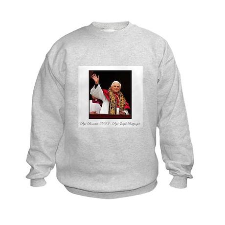 Pope Benedict XVI - Joseph Ra Kids Sweatshirt