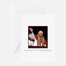 Pope Benedict XVI - Joseph Ra Greeting Cards (Pk o