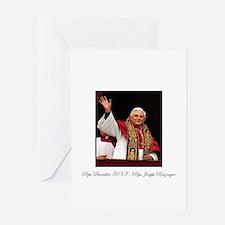 Pope Benedict XVI - Joseph Ra Greeting Card