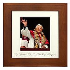 Pope Benedict XVI - Joseph Ra Framed Tile