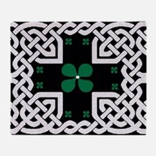 Funny Clovers Throw Blanket