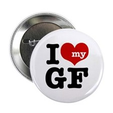 I Love My GF (Girlfriend) Button