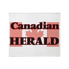 Canadian Herald Throw Blanket