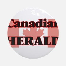 Canadian Herald Round Ornament