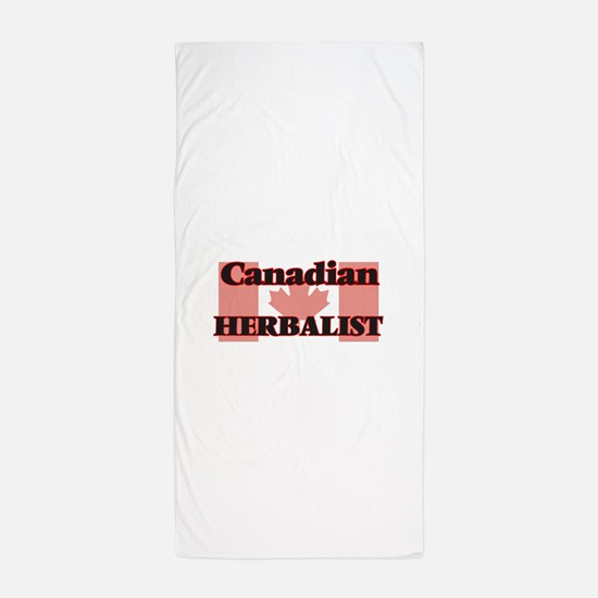 Canadian Herbalist Beach Towel