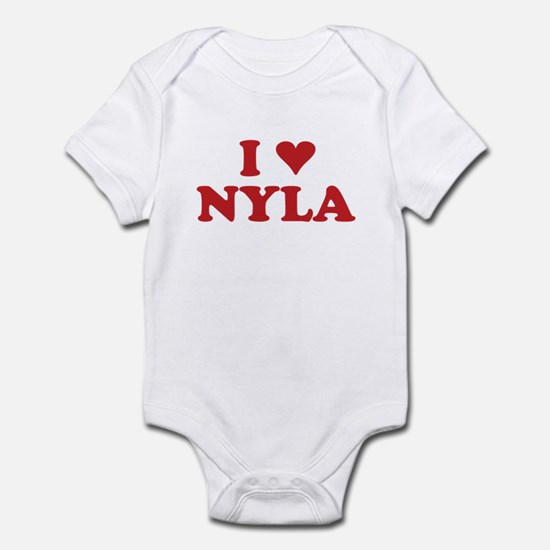 I LOVE NYLA Infant Bodysuit