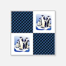 "PENGUIN PLAID Square Sticker 3"" x 3"""