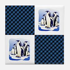 PENGUIN PLAID Tile Coaster