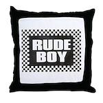 RUDE BOY Throw Pillow