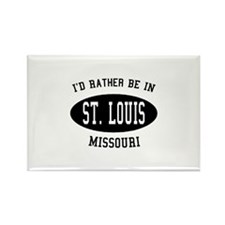 I'd Rather Be in St. Louis, M Rectangle Magnet