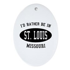 I'd Rather Be in St. Louis, M Oval Ornament