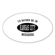 I'd Rather Be in Kansas City, Oval Decal