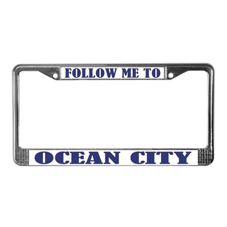 Ocean City License Plate Frame By Funlicenseframe