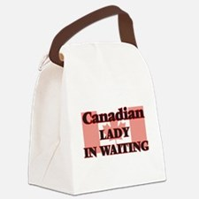Canadian Lady In Waiting Canvas Lunch Bag