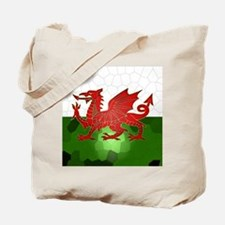 Welsh Flag Mosaic, Design, Tote Bag