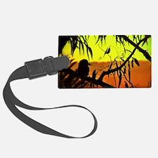 Sunset Kookaburra Silhouette Luggage Tag