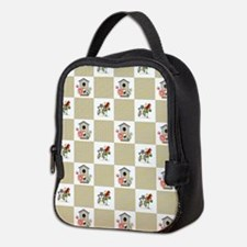 BIRDHOUSE PLAID Neoprene Lunch Bag