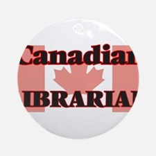 Canadian Librarian Round Ornament
