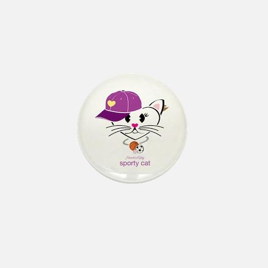 Sporty Cat Mini Button